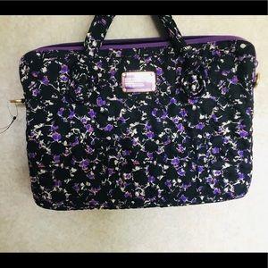 Marc Jacobs laptop bag purple print new